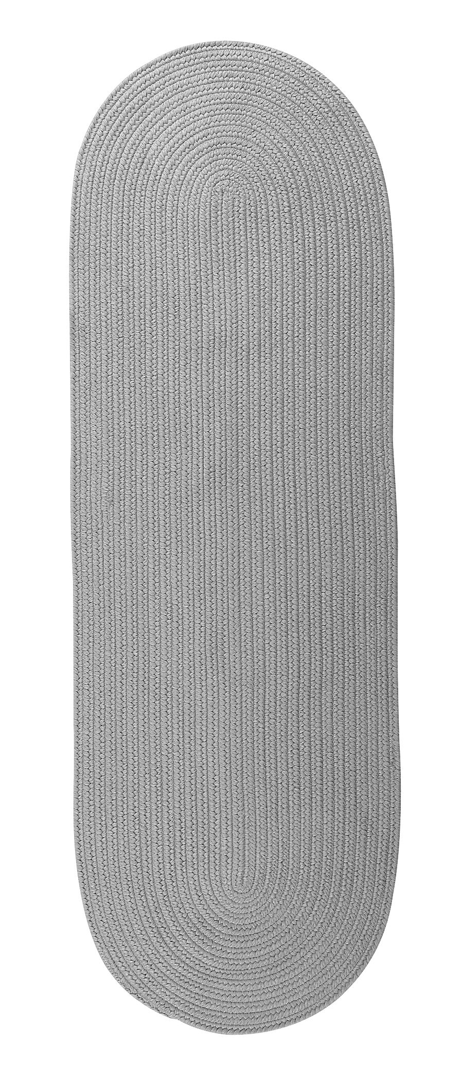 Whitmire Reversible Hand-Braided Gray Indoor/Outdoor Area Rug Rug Size: Runner 2'4