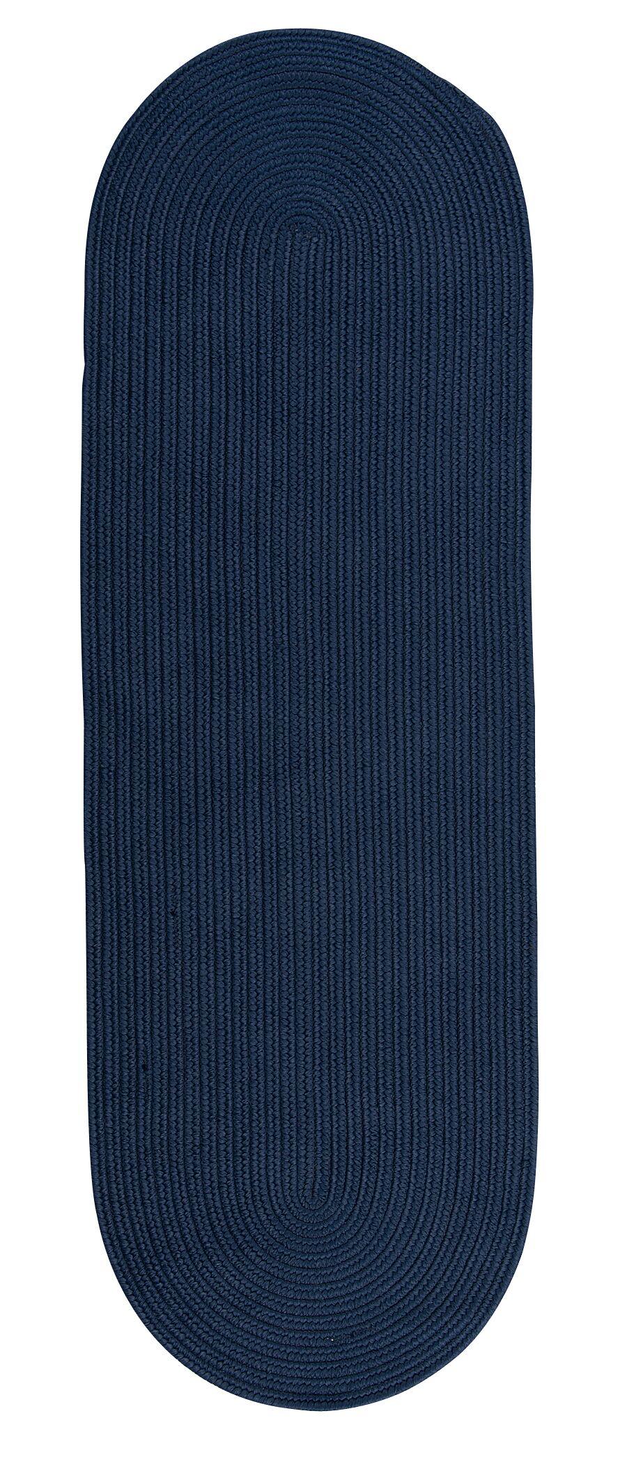 Wellings Reversible Hand-Braided Blue Indoor/Outdoor Area Rug Rug Size: Runner 2'4