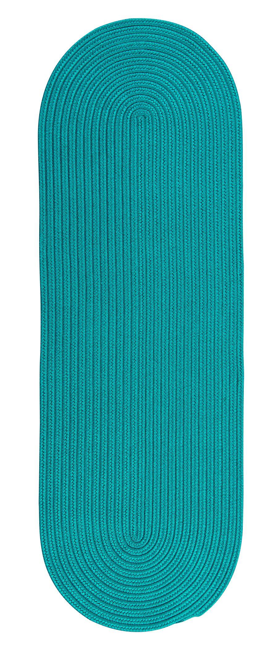 Wembley Reversible Hand-Braided Blue Indoor/Outdoor Area Rug Rug Size: Runner 2'4