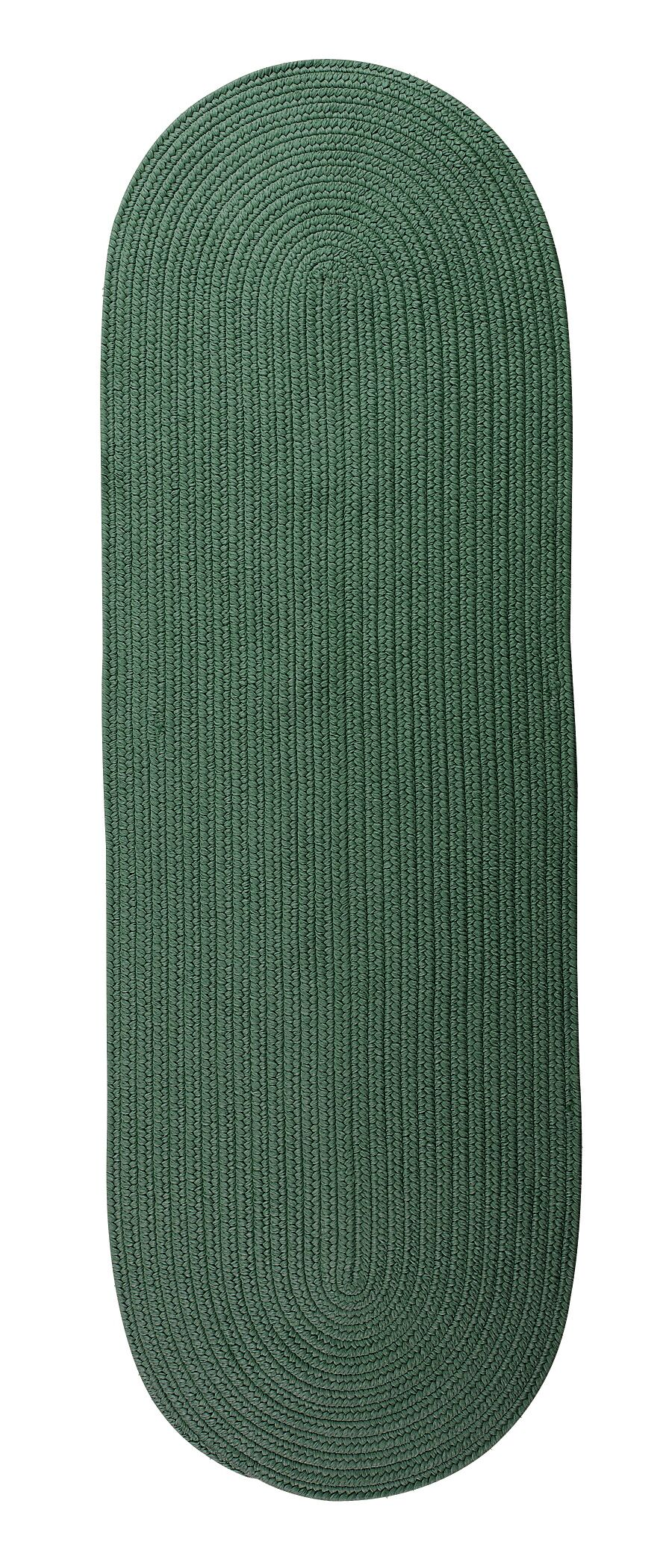 Wentworth Mansion Reversible Hand-Braided Green Indoor/Outdoor Area Rug Rug Size: Runner 2'4
