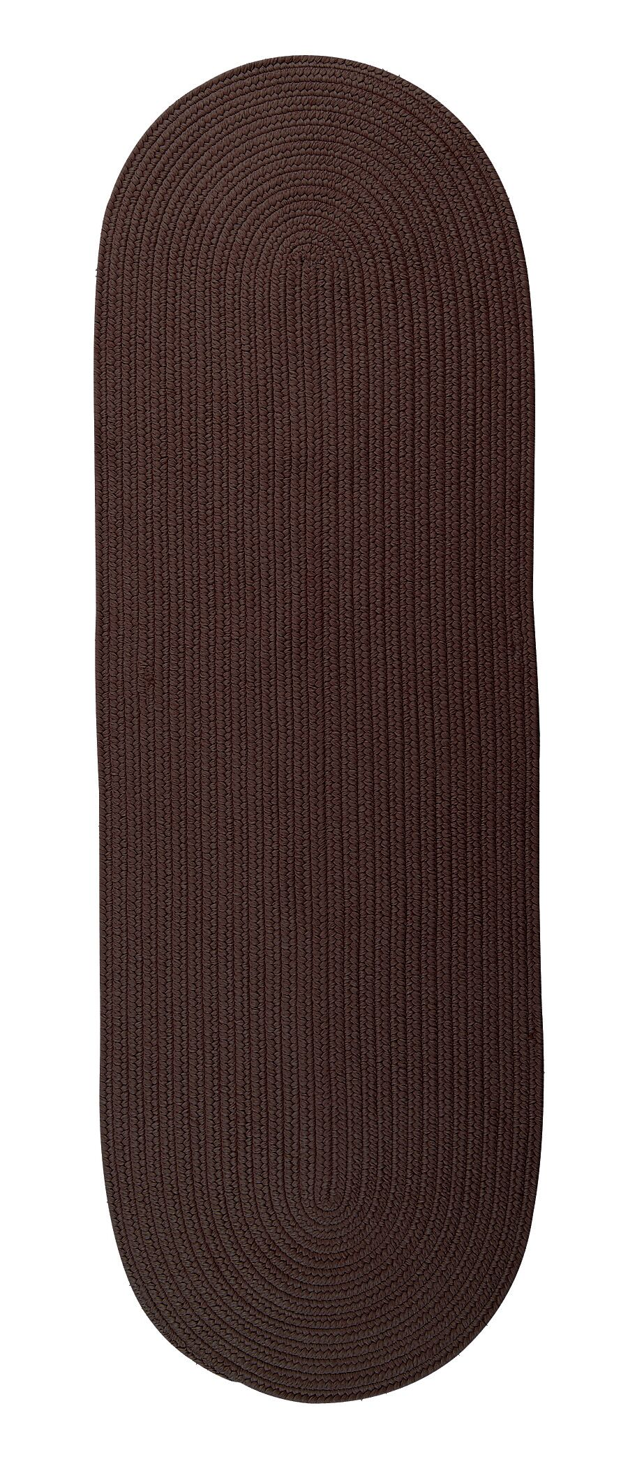 Willersley Reversible Hand-Braided Brown Indoor/Outdoor Area Rug Rug Size: Runner 2'4