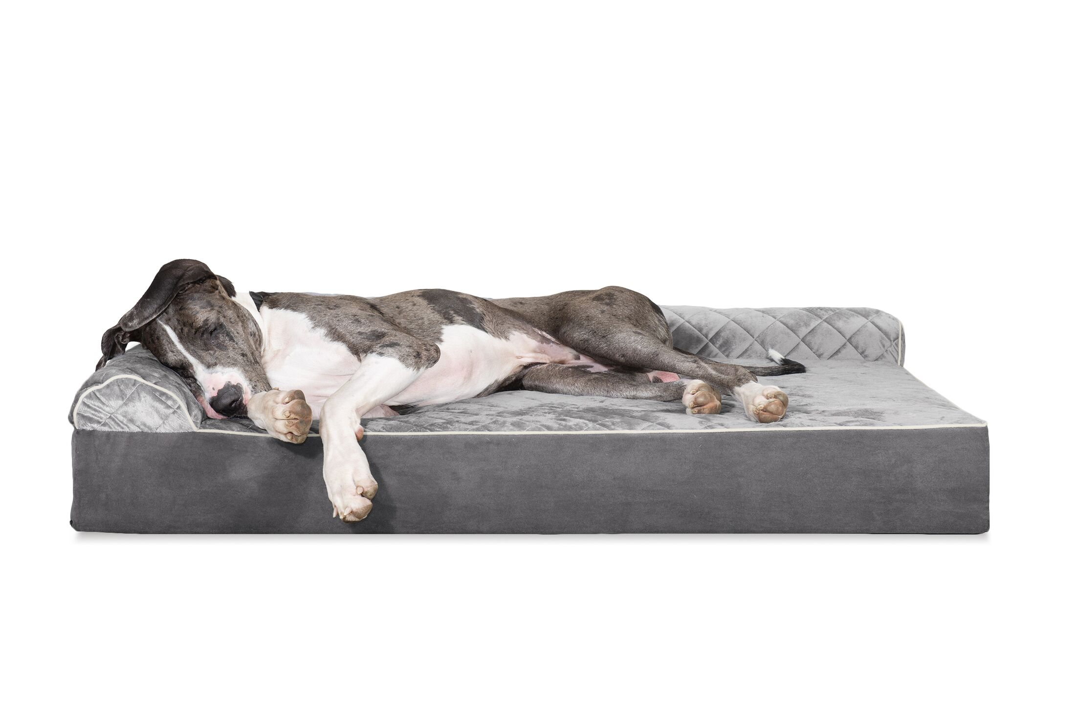 Dichiera Quilted DLX L-Chaise Lounge Dog Bed Sofa Size: Extra Large (11
