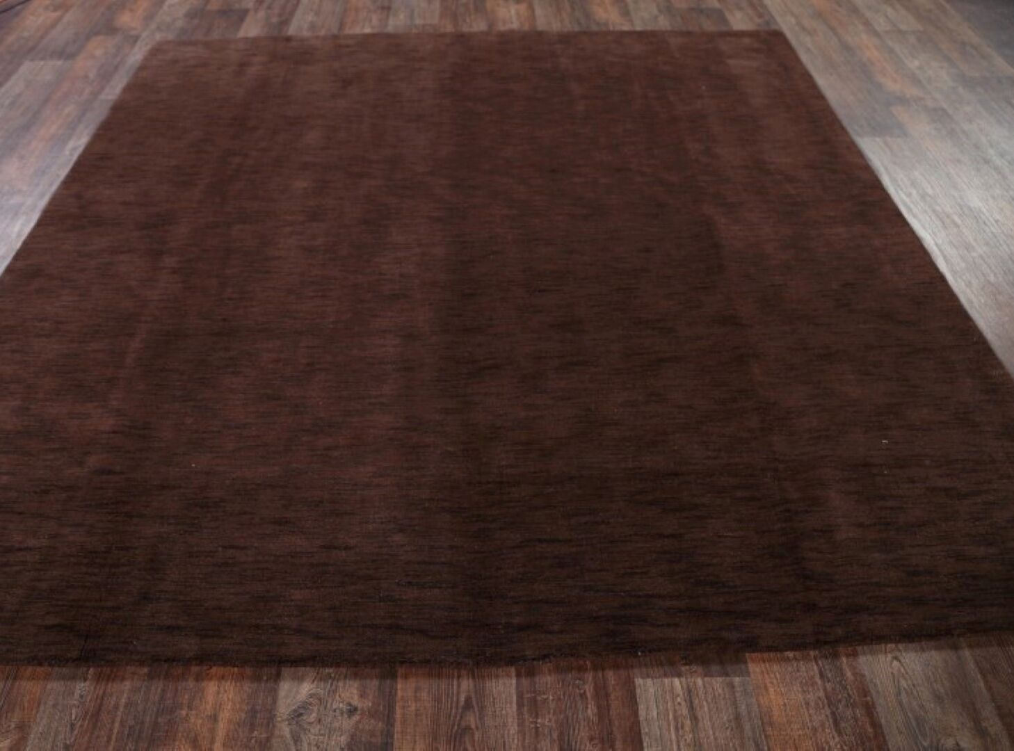 One-of-a-Kind Branch Dark Gabbeh Oriental Hand-Knotted Wool Brown Area Rug Rug Size: Rectangle 8' 1