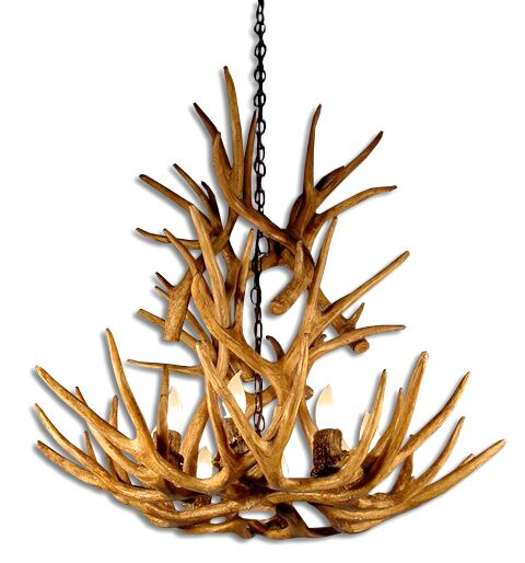Prater Mule/Deer 9-Light Novelty Chandelier Shade Color: Rawhide, Finish: Rustic Bronze Chain/Brown Antlers