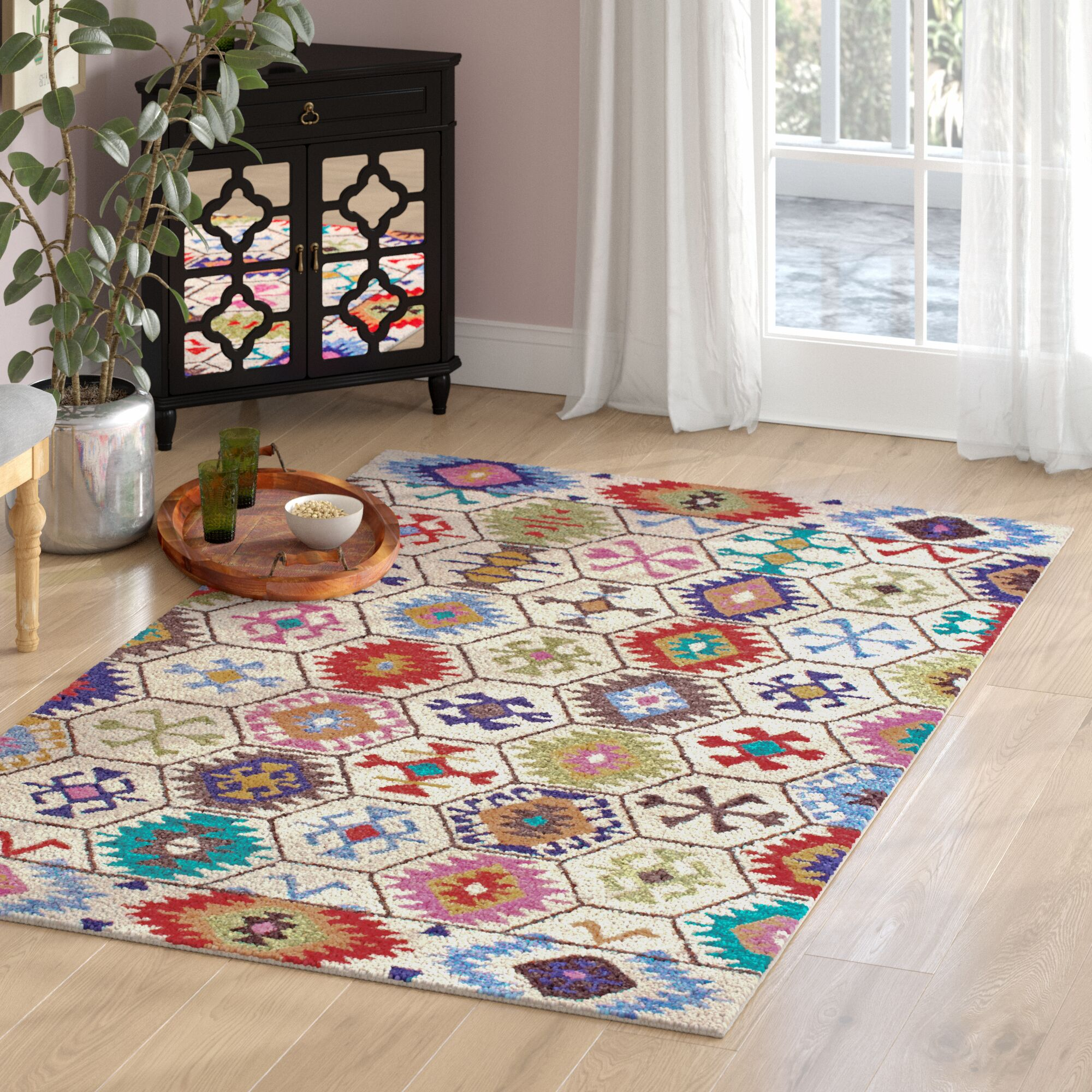 Toubqal Hand-Tufted Beige Area Rug Rug Size: Rectangle 6' x 9'