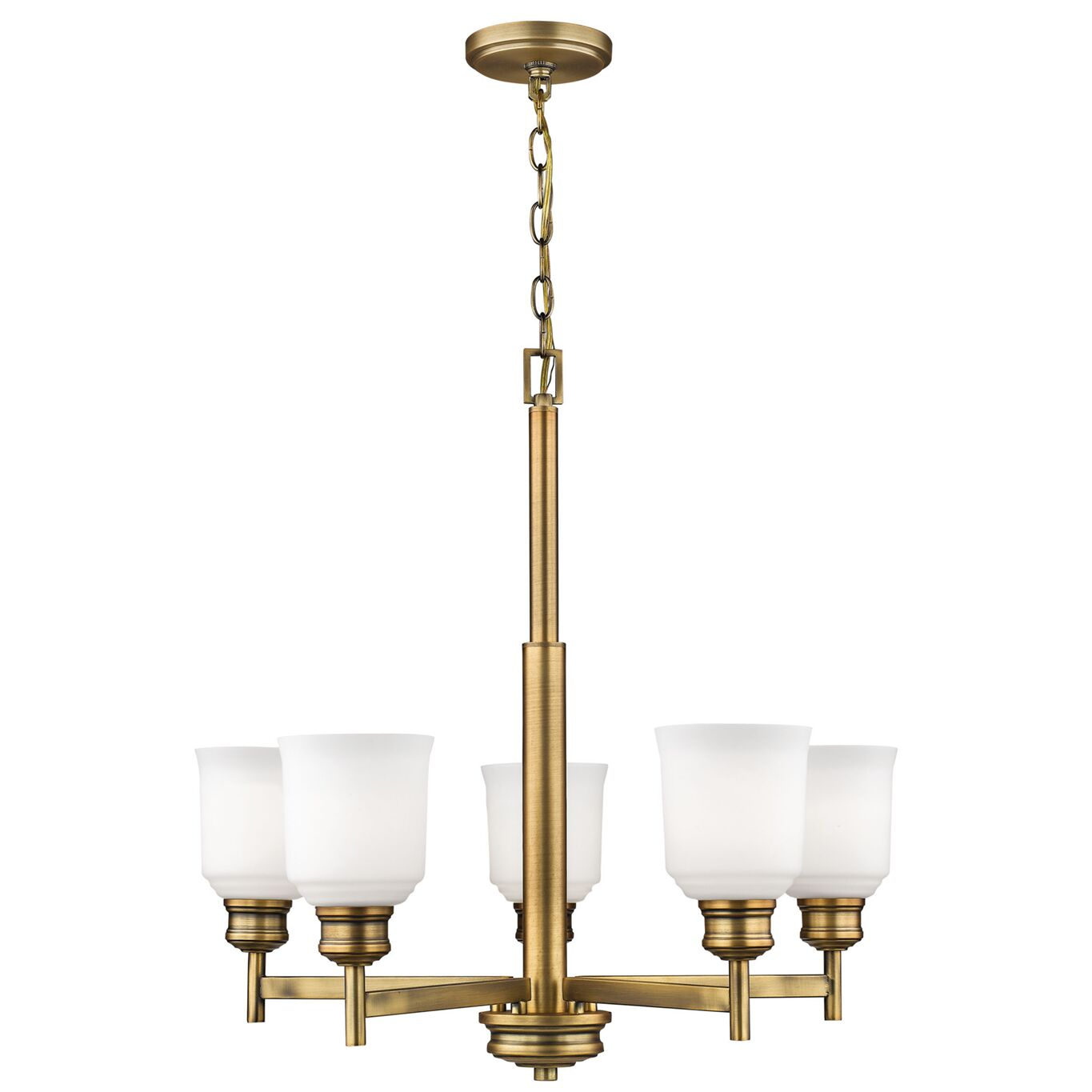 Zeke 5-Light Shaded Chandelier Finish: Heirloom Bronze