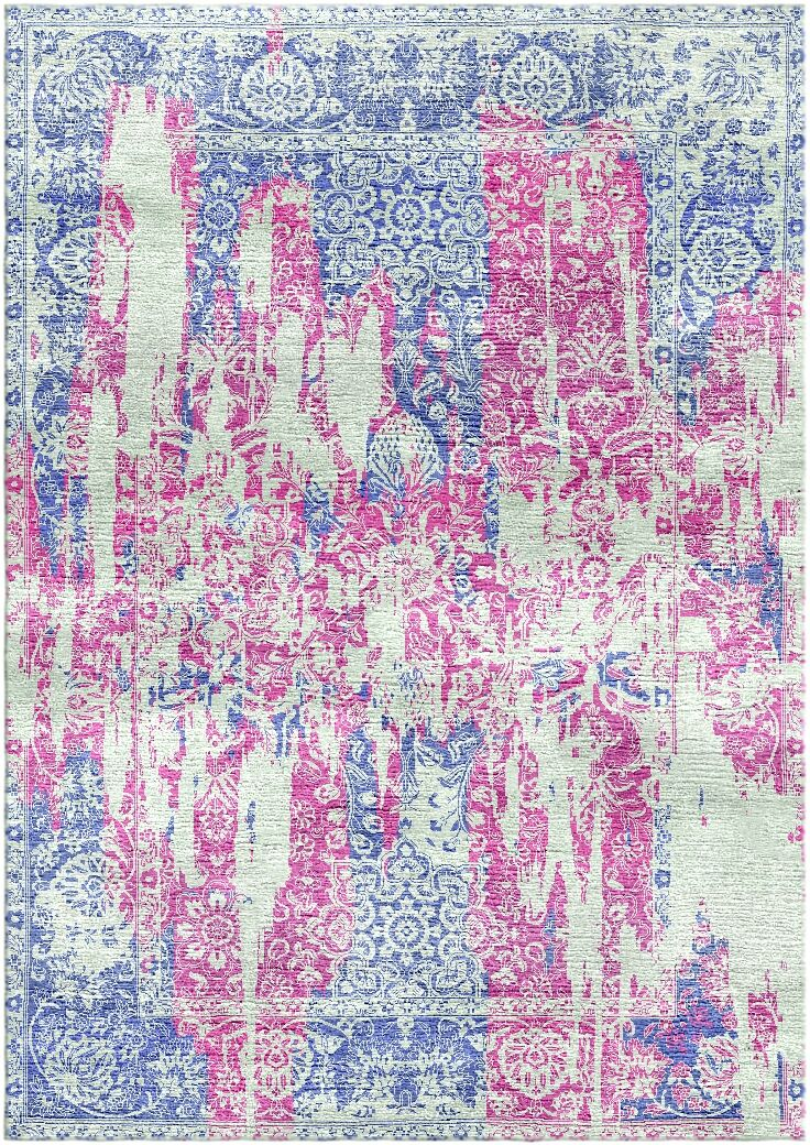 Aliza Handloom Pink/Blue Area Rug Rug Size: Rectangle 5'7