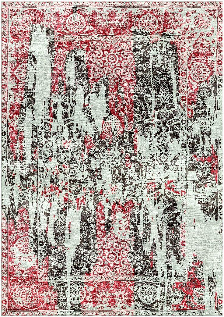 Aliza Handloom Maroon/Gray Area Rug Rug Size: Rectangle 5'7