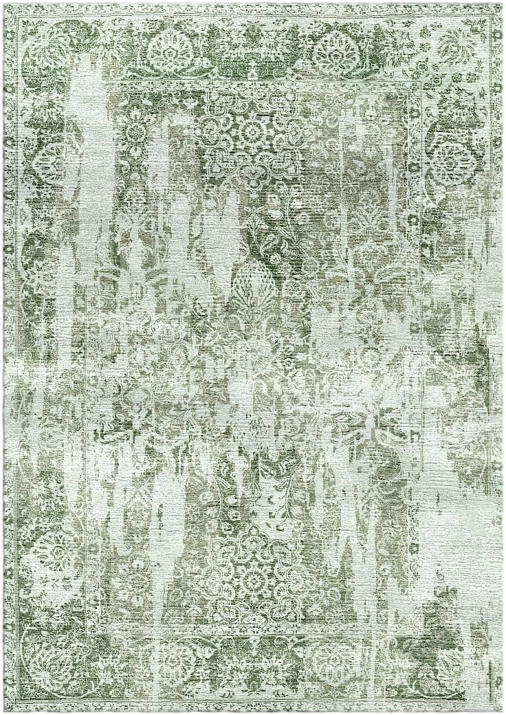 Aliza Handloom Green/Gray Area Rug Rug Size: Square 9'