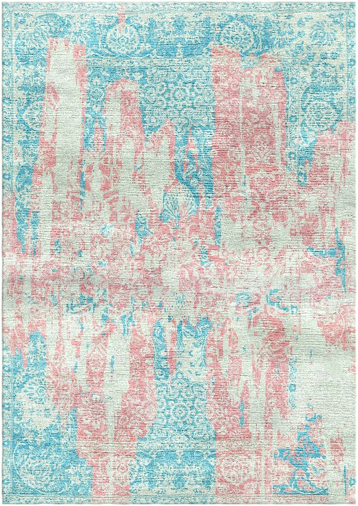 Aliza Handloom Pink/Blue Area Rug Rug Size: Rectangle 6' x 9'