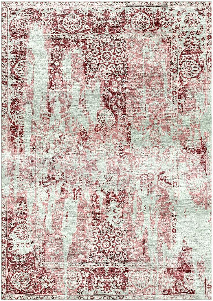 Aliza Handloom Maroon/Pastel Pink Area Rug Rug Size: Rectangle 4' x 6'