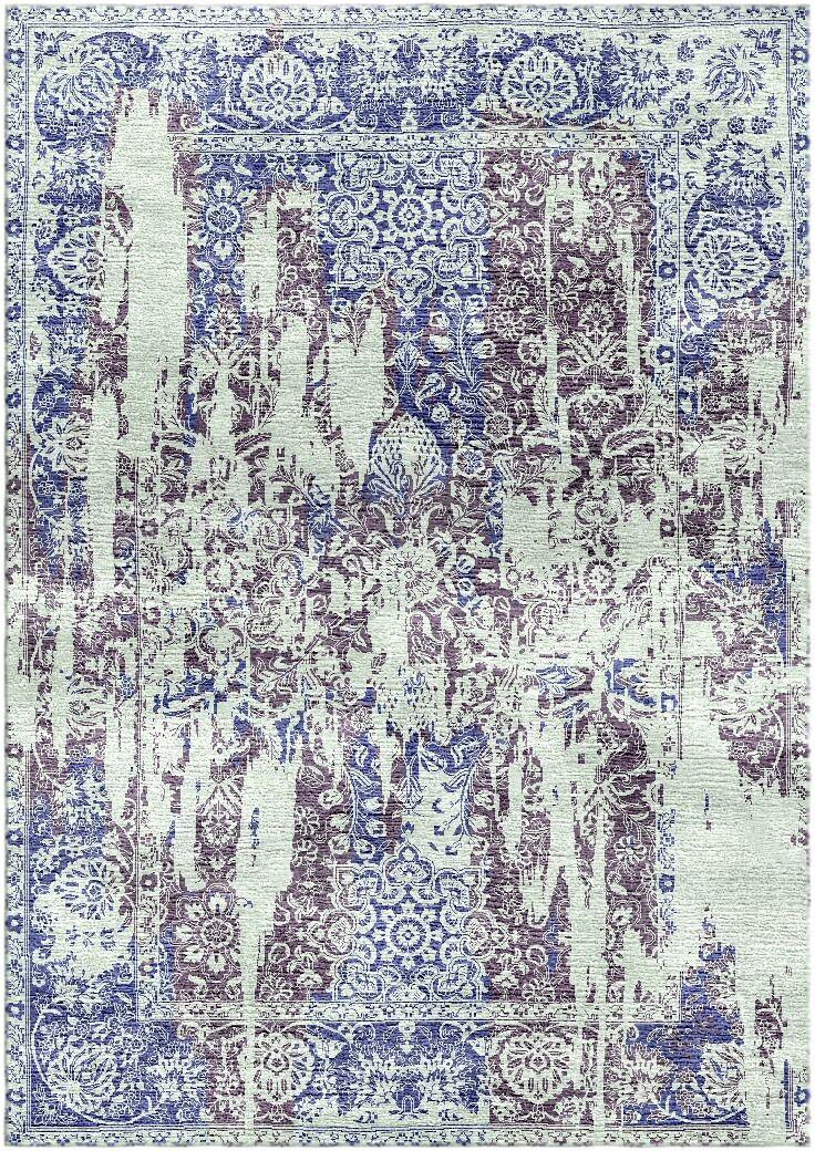 Aliza Handloom Blue/Gray Area Rug Rug Size: Rectangle 4' x 6'