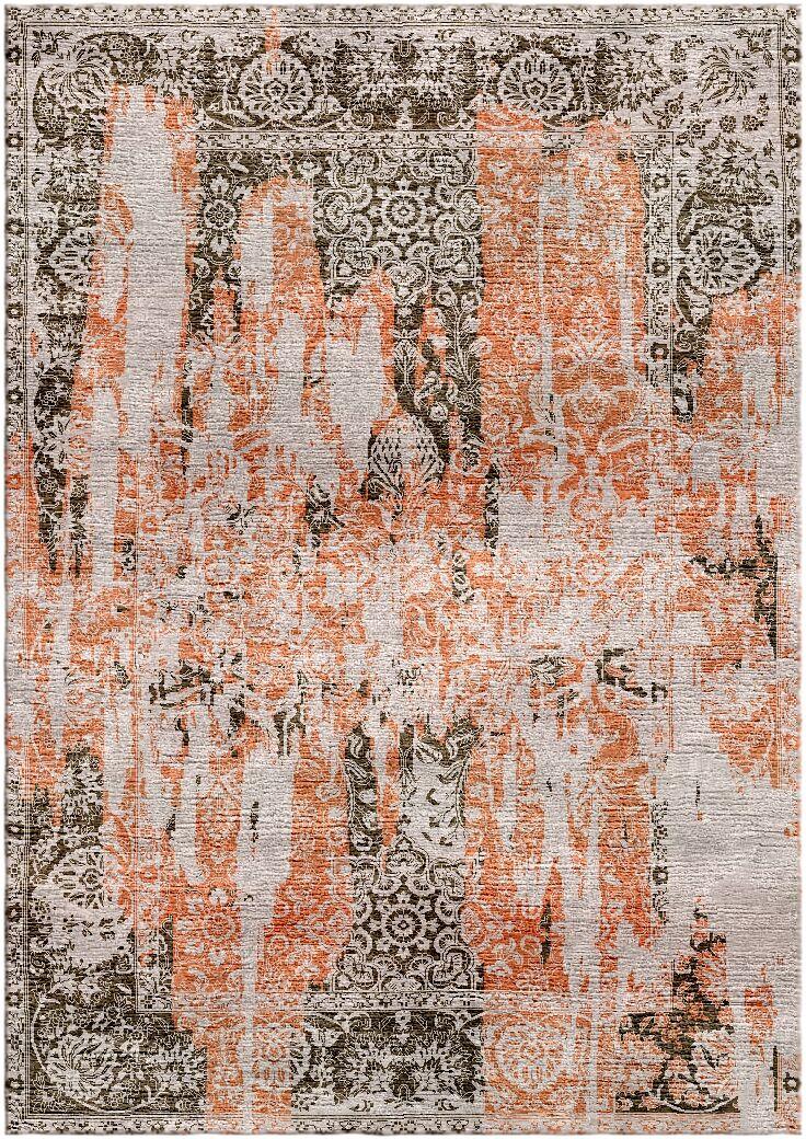 Aliza Handloom Rust/Brown Area Rug Rug Size: Rectangle 4' x 6'