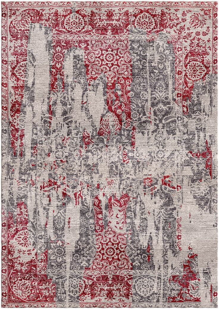 Aliza Handloom Red/Beige Area Rug Rug Size: Rectangle 4' x 6'