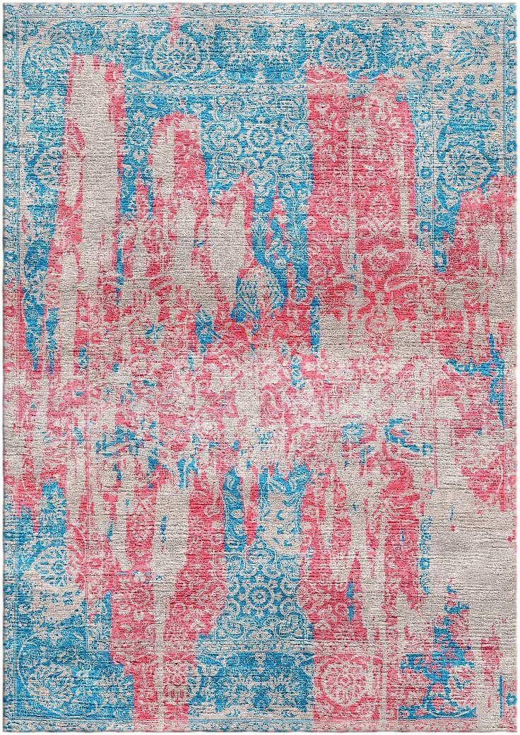 Aliza Handloom Blue/Rose Area Rug Rug Size: Rectangle 9' x 12'