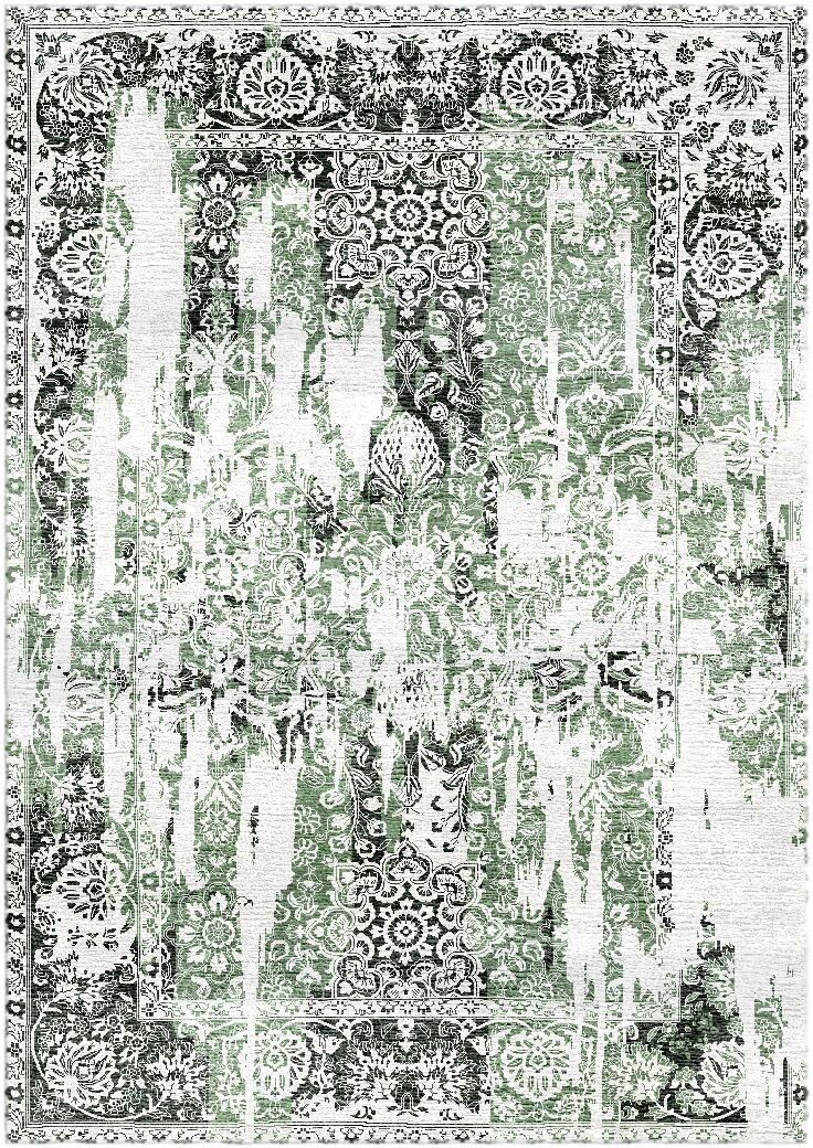 Aliza Handloom Green/Charcoal Area Rug Rug Size: Round 6'
