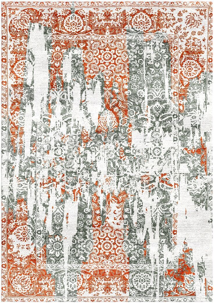 Aliza Handloom Rust/Gray Area Rug Rug Size: Rectangle 4' x 6'