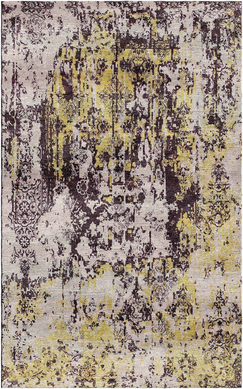 Aliza Handloom Yellow/Beige Area Rug Rug Size: Rectangle 5'7