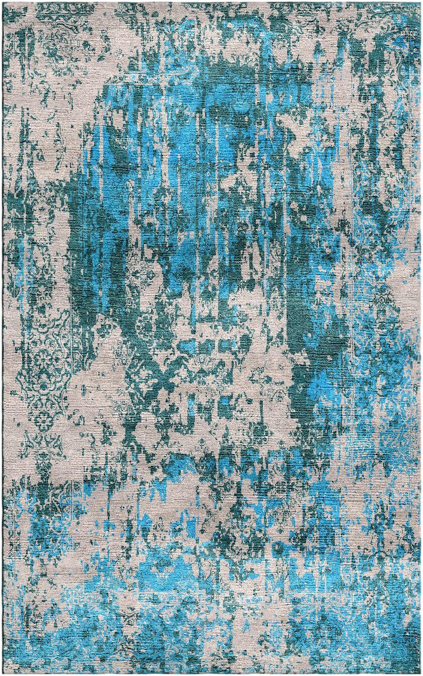 Aliza Handloom Blue/Beige Area Rug Rug Size: Rectangle 8' x 10'