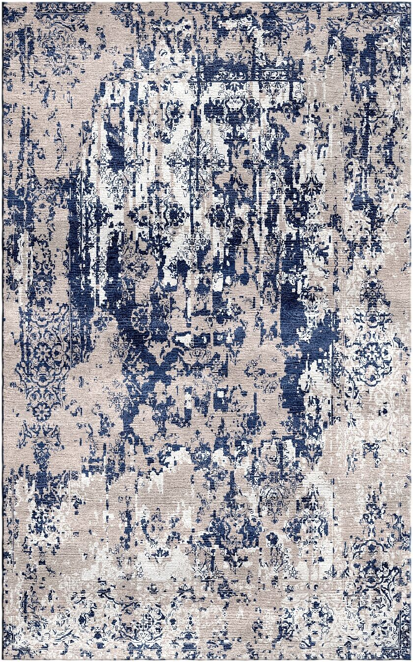 Aliza Handloom Gray/Blue Area Rug Rug Size: Rectangle 5'7
