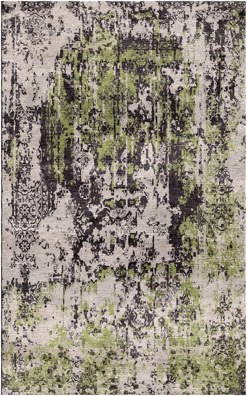 Aliza Handloom Beige/Green Area Rug Rug Size: Rectangle 4' x 6'