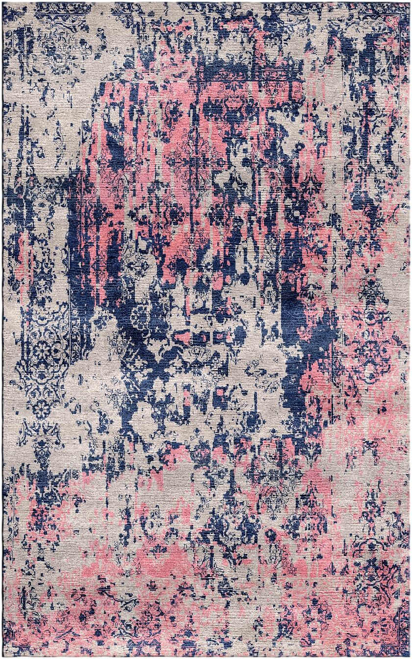 Aliza Handloom Gray/Pink Area Rug Rug Size: Square 9'