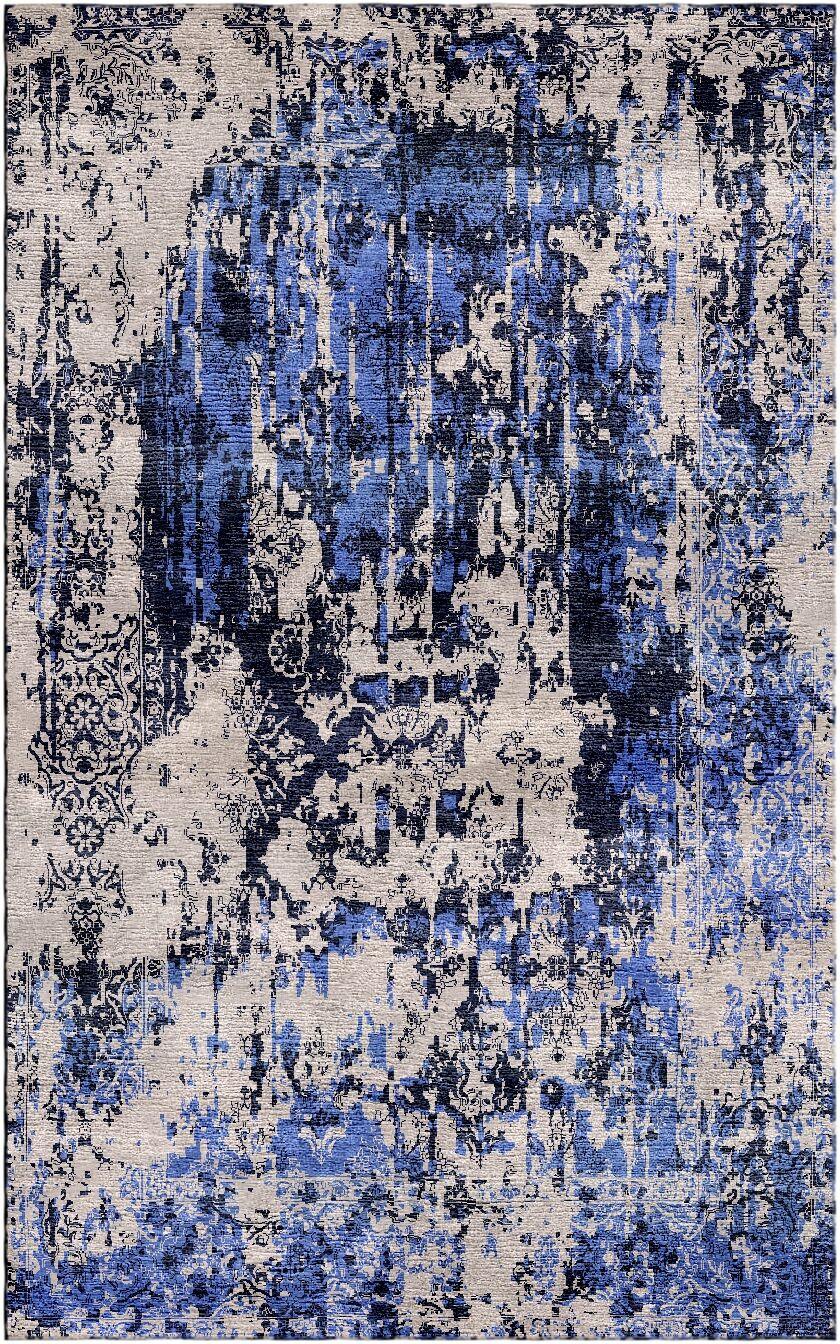Aliza Handloom Sand/Blue Area Rug Rug Size: Rectangle 8' x 10'