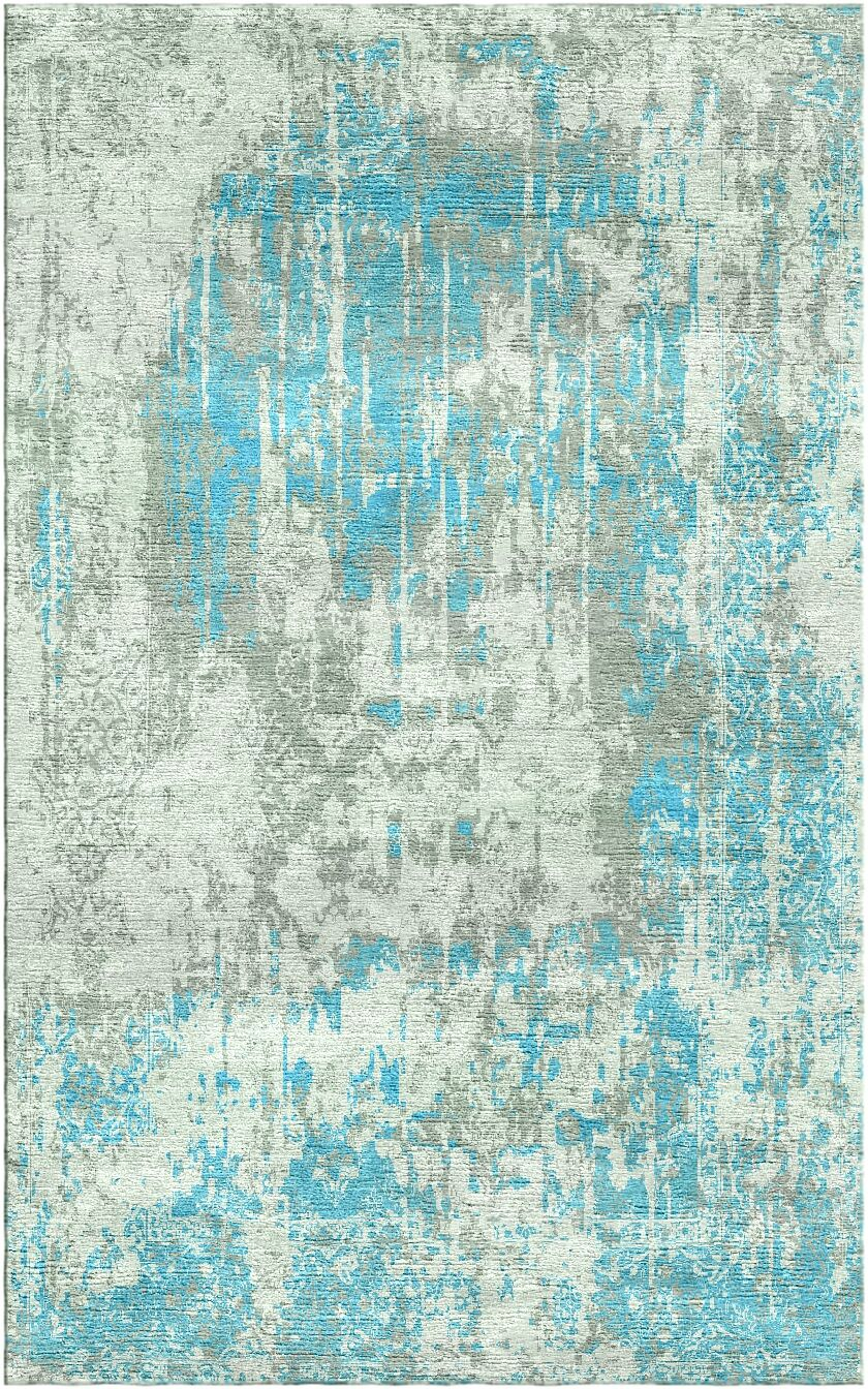 Aliza Handloom Blue/Sage Area Rug Rug Size: Rectangle 6' x 9'