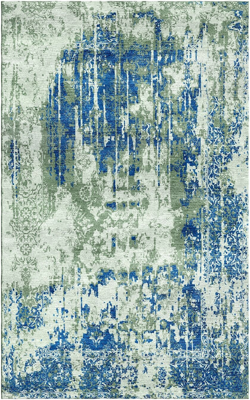 Aliza Handloom Sage/Blue Area Rug Rug Size: Rectangle 6' x 9'