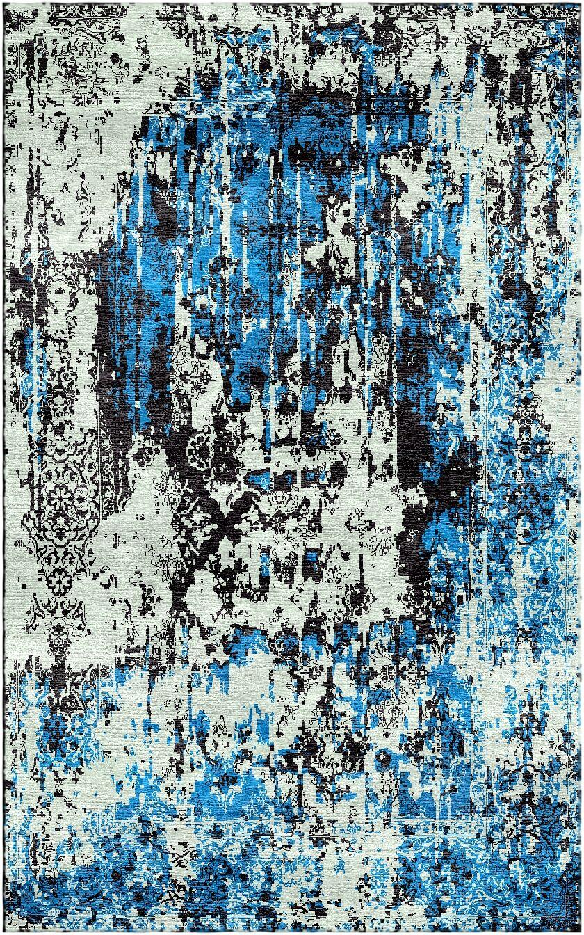 Aliza Handloom Blue/Sage Area Rug Rug Size: Round 6'