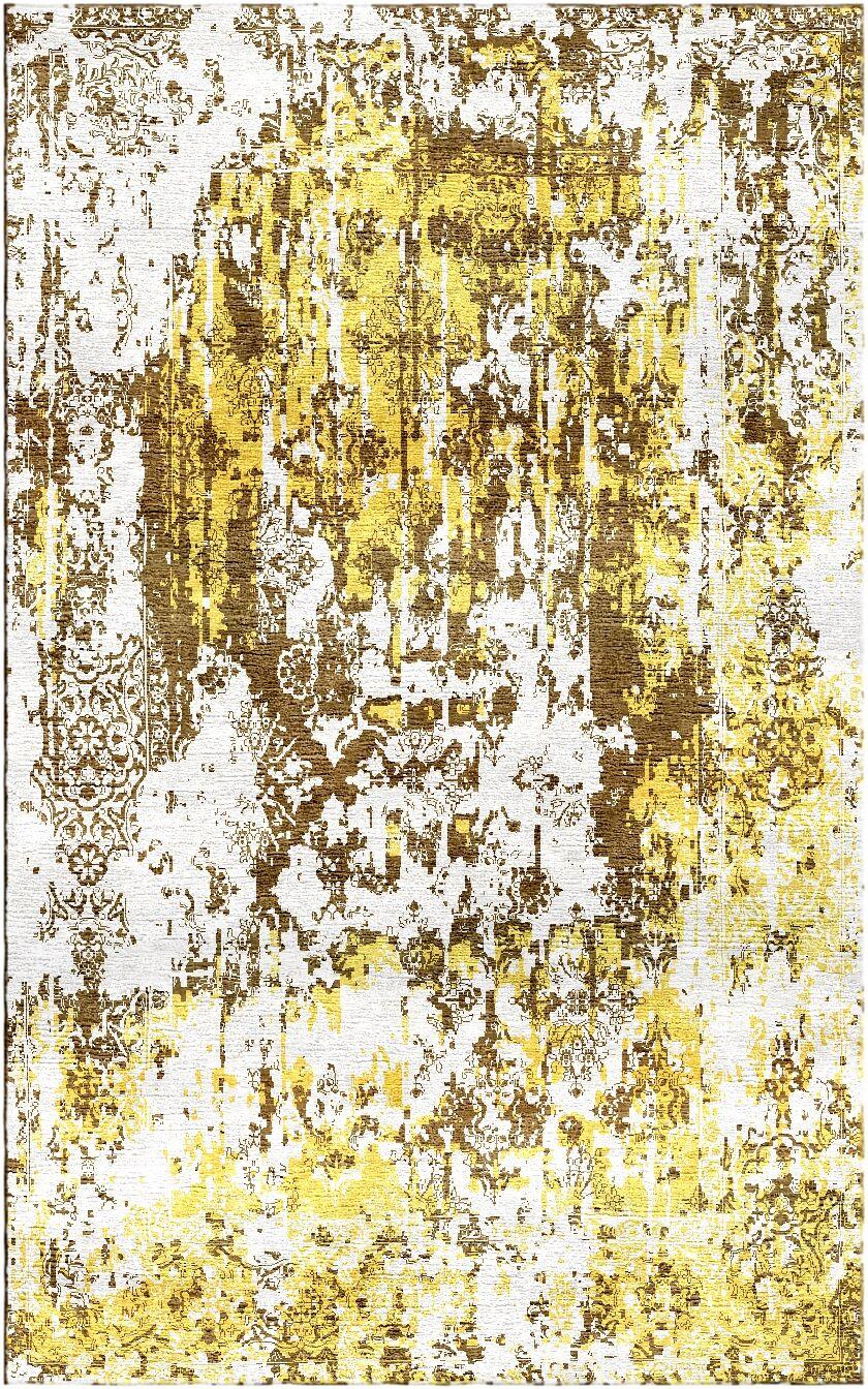 Aliza Handloom Gold Area Rug Rug Size: Rectangle 9' x 12'
