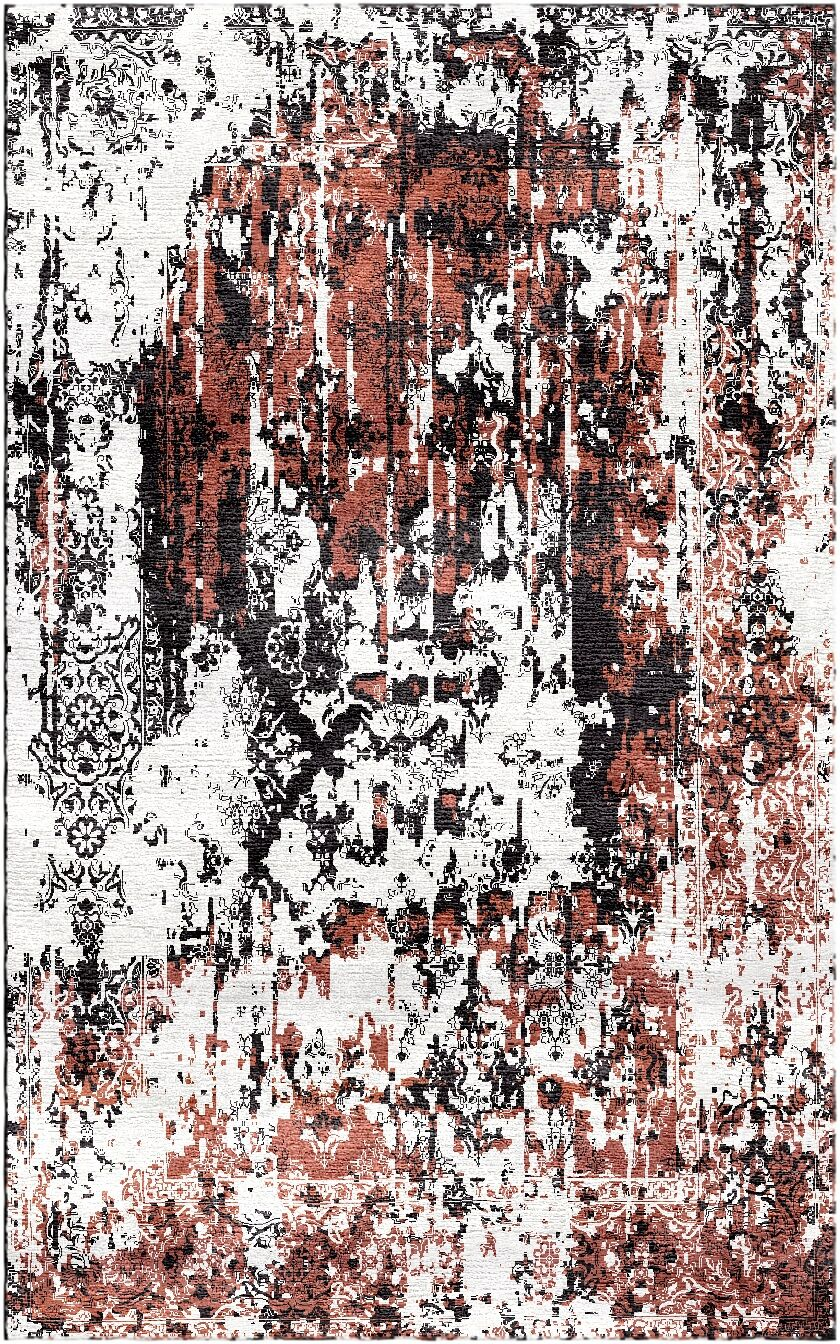Aliza Handloom Rust/Charcoal Area Rug Rug Size: Square 6'