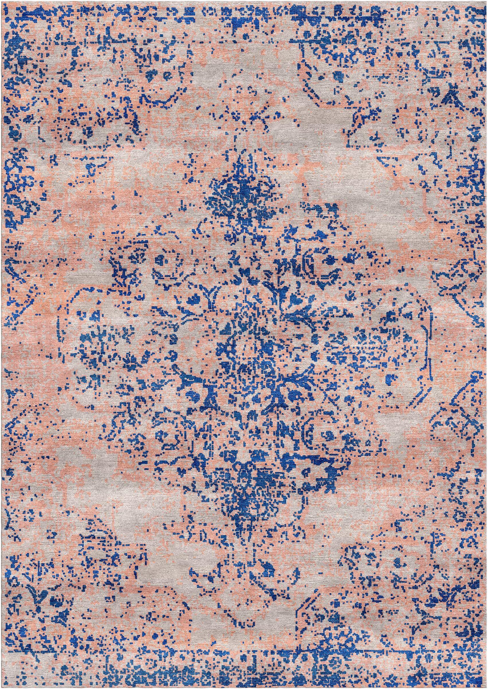 Aliza Handloom Blue/Sisal Area Rug Rug Size: Round 6'