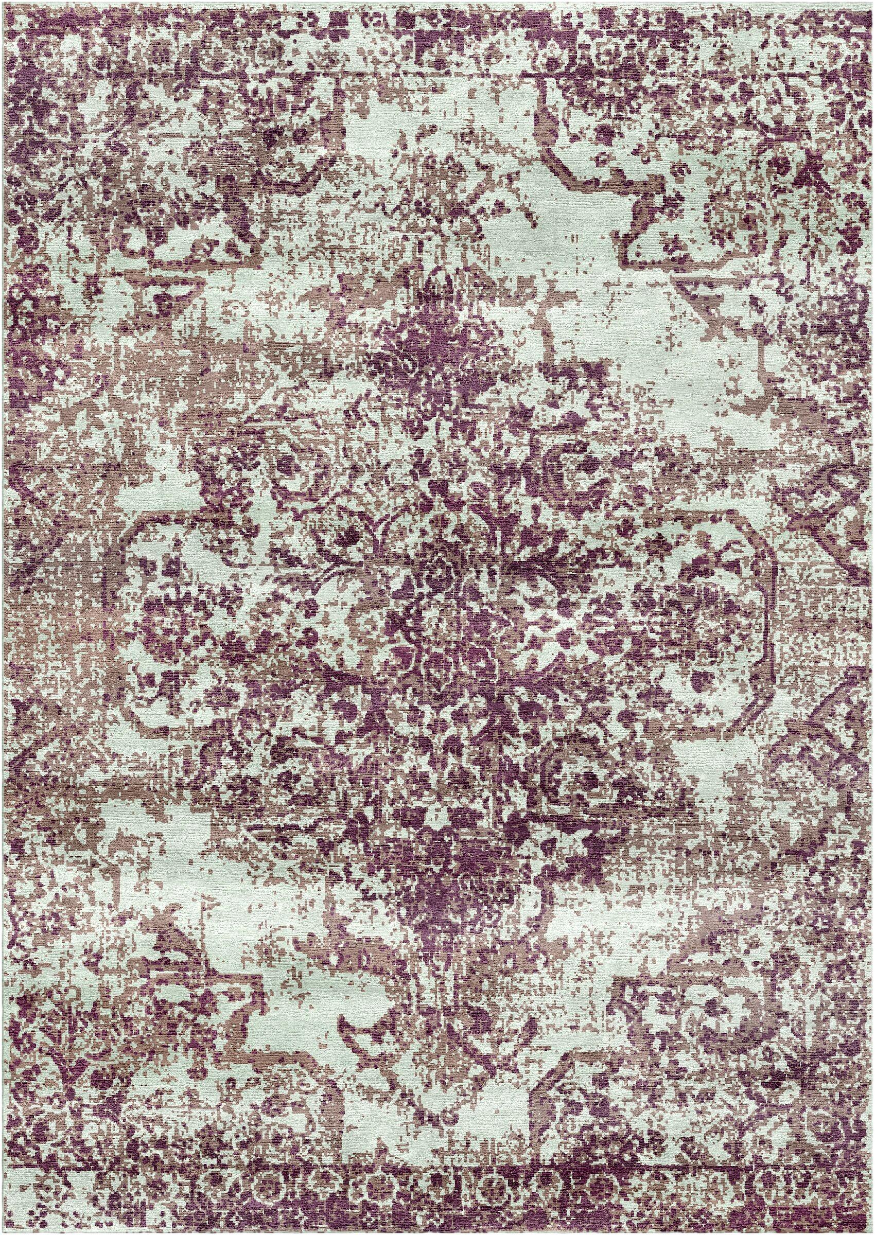 Aliza Handloom Purple Area Rug Rug Size: Round 6'