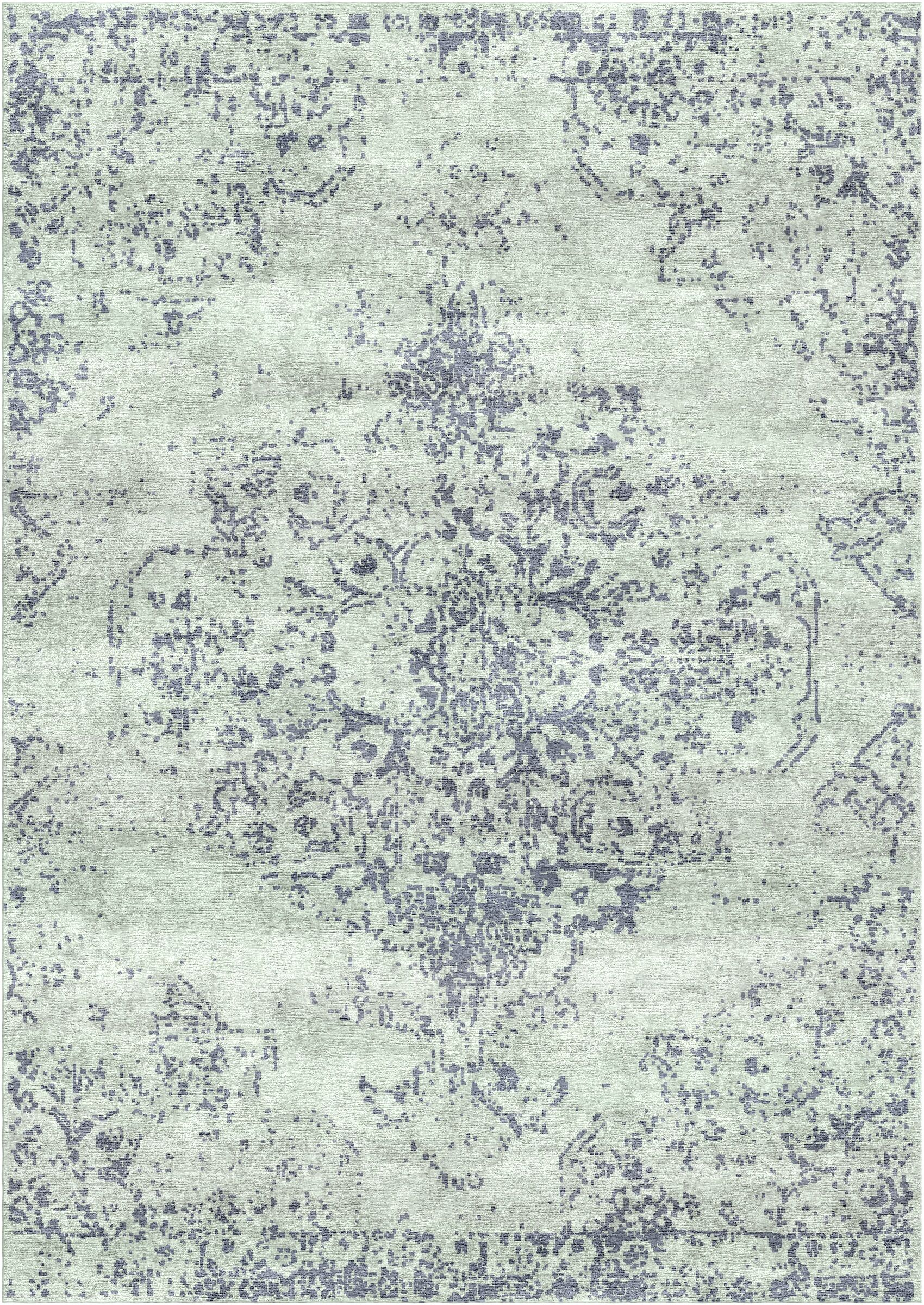 Aliza Handloom Blue Area Rug Rug Size: Rectangle 6' x 9'
