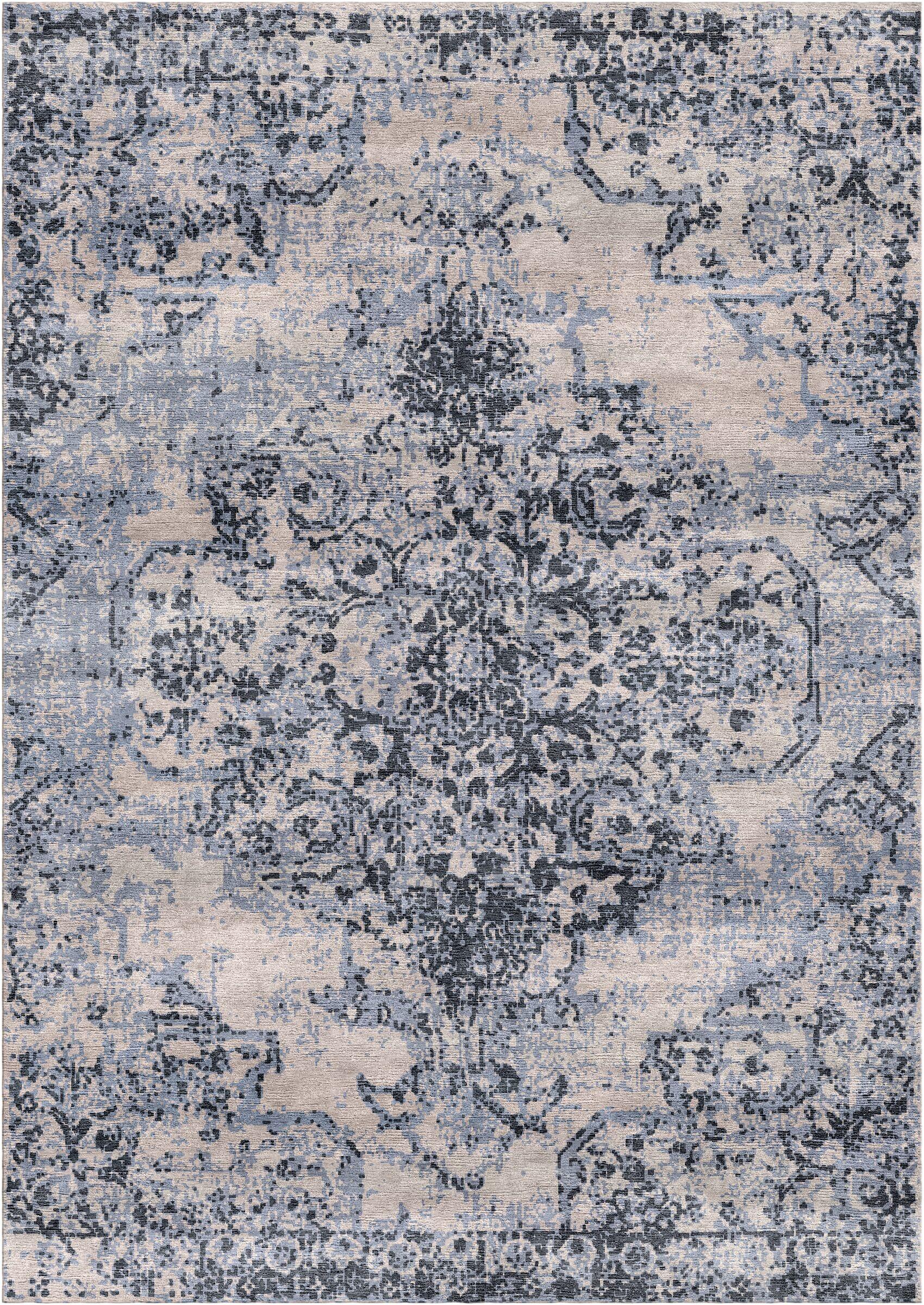 Aliza Handloom Gray Area Rug Rug Size: Rectangle 5'7