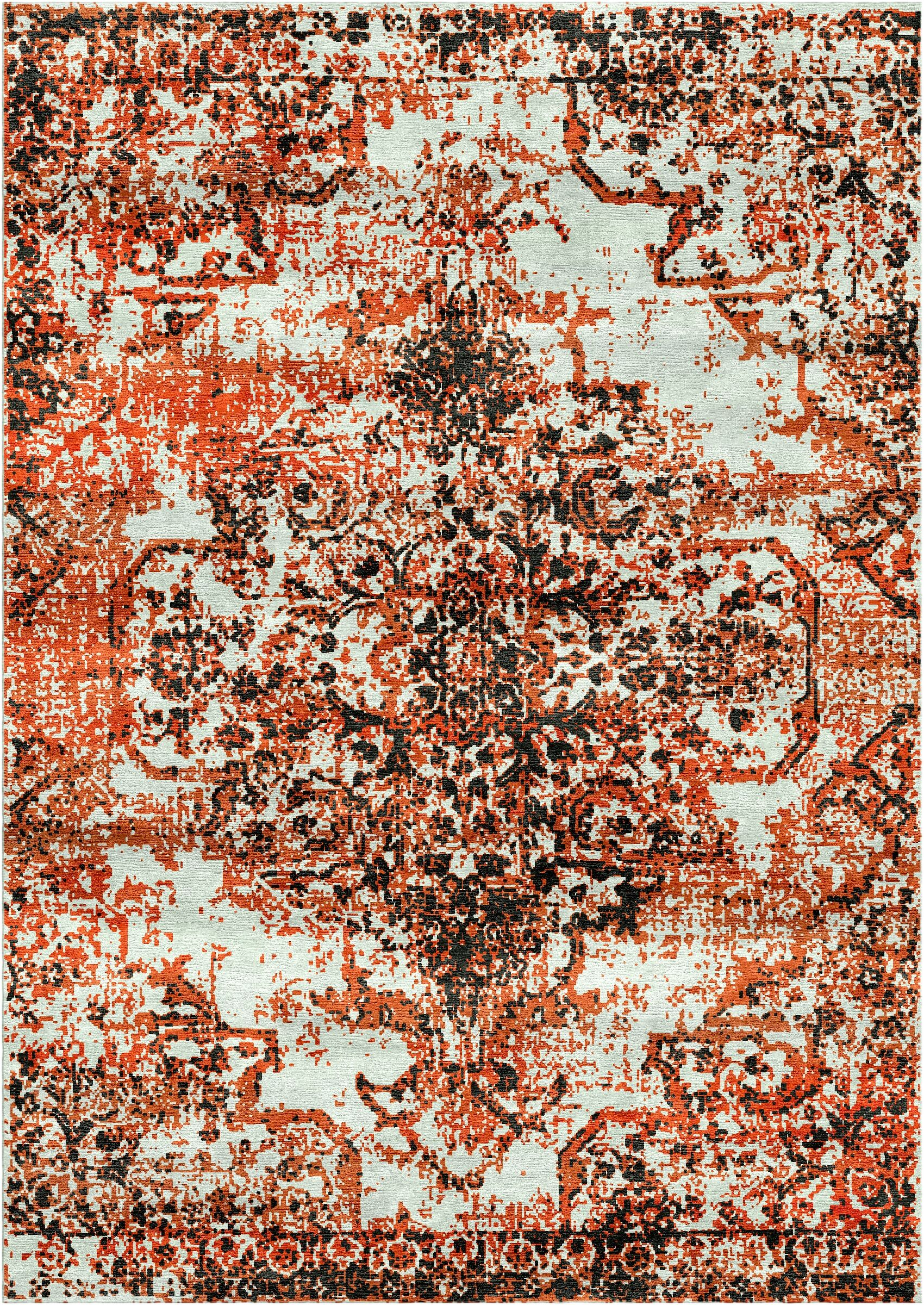 Aliza Handloom Rust Area Rug Rug Size: Rectangle 8' x 10'