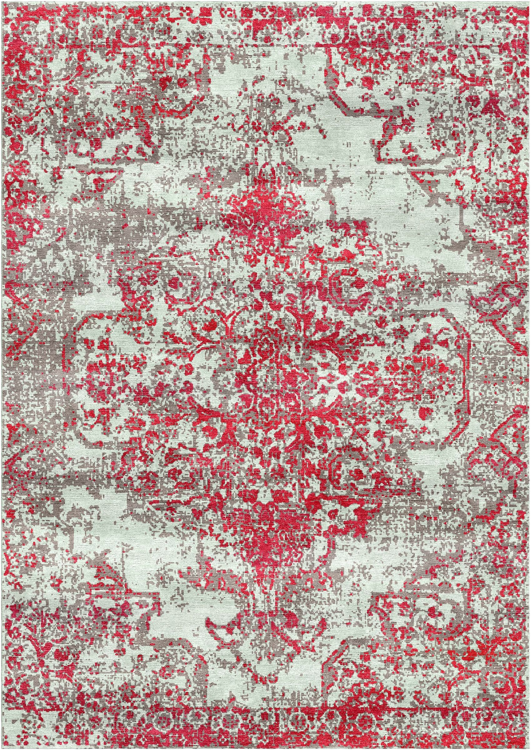 Aliza Handloom Red Area Rug Rug Size: Square 9'