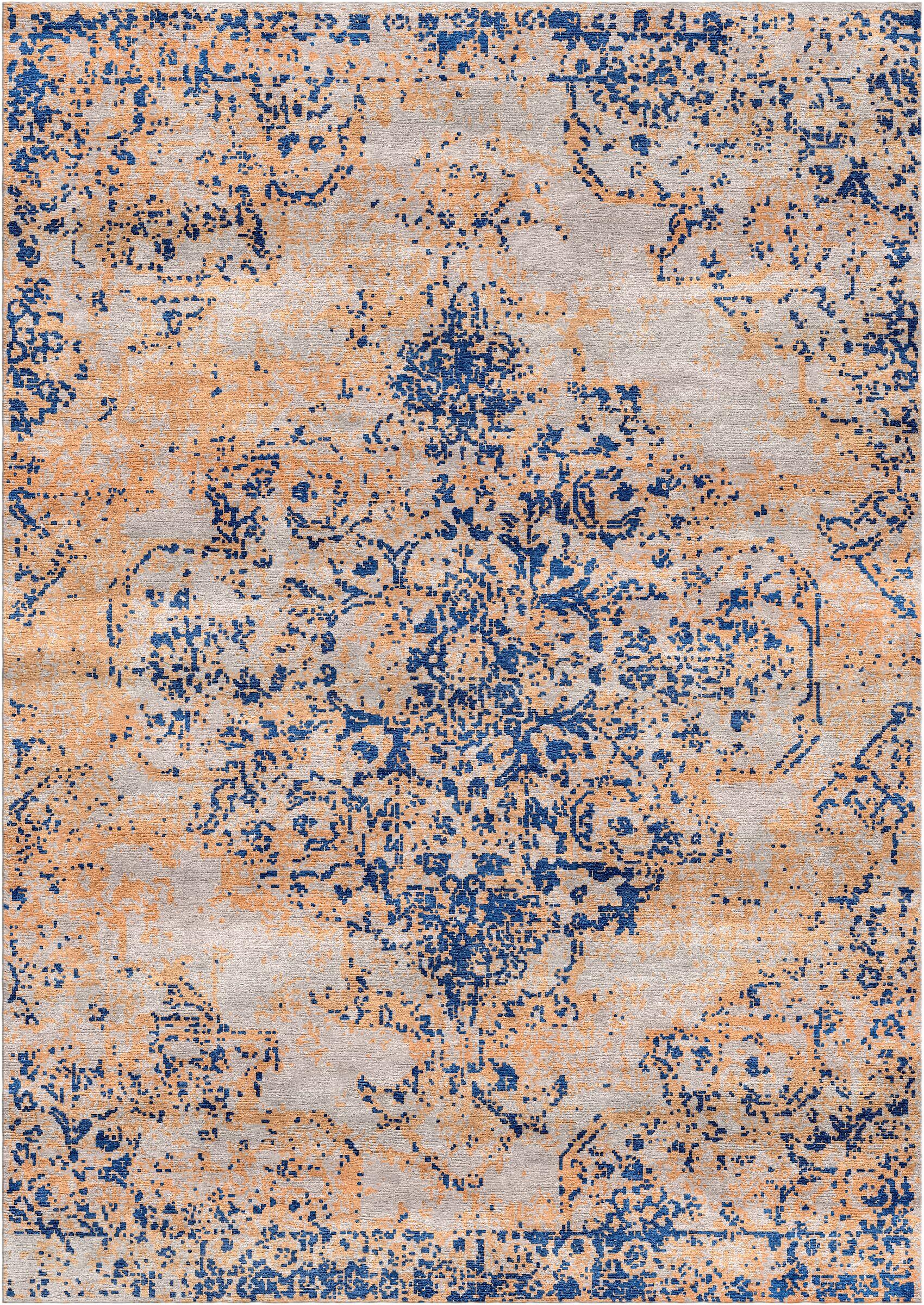 Aliza Handloom Orange/Blue Area Rug Rug Size: Rectangle 6' x 9'
