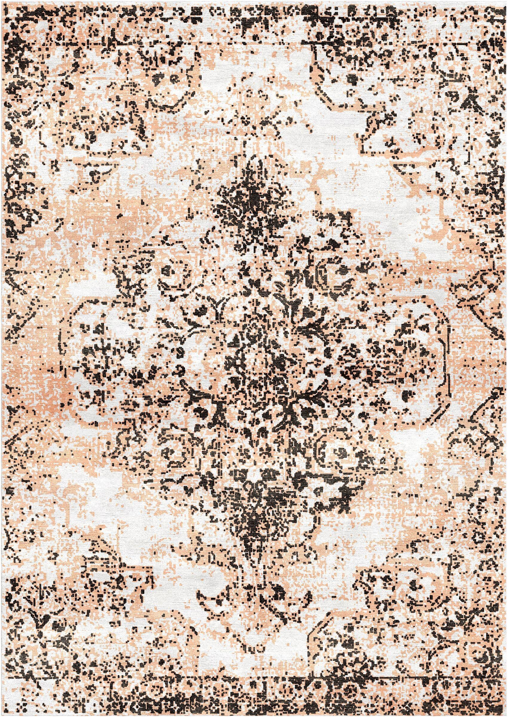 Aliza Handloom Charcoal/Peach Area Rug Rug Size: Rectangle 9' x 12'