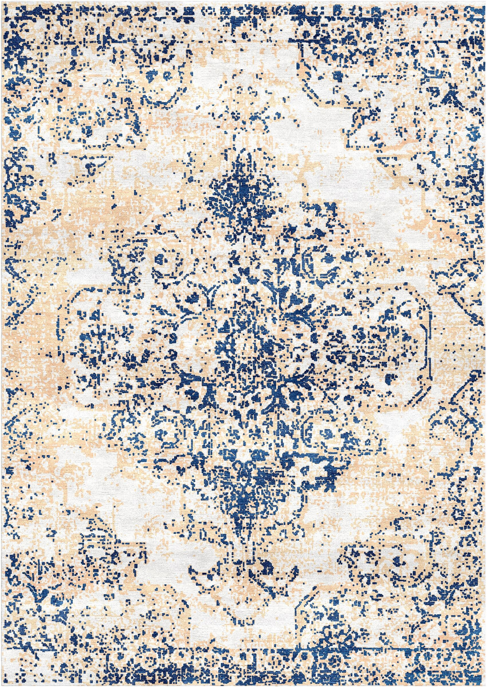 Aliza Handloom Blue/Ivory Area Rug Rug Size: Rectangle 6' x 9'