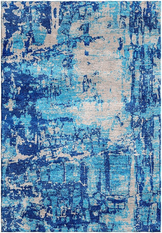 Ashford Handloom Blue/Gray Area Rug Rug Size: Rectangle 5'7