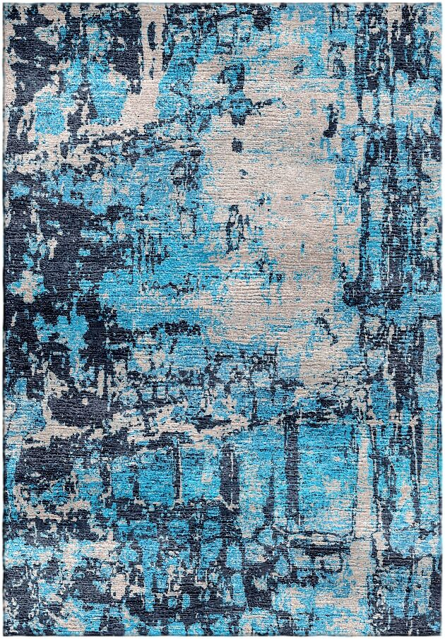 Ashford Handloom Blue/Gray Area Rug Rug Size: Rectangle 8' x 10'