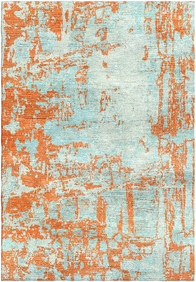 Ashford Handloom Orange/Blue Area Rug Rug Size: Square 9'