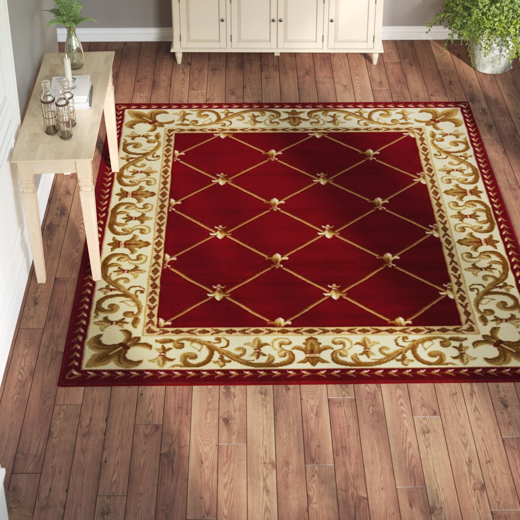 Jasonville Oriental Red/Beige Area Rug Rug Size: Rectangle 8' x 10'