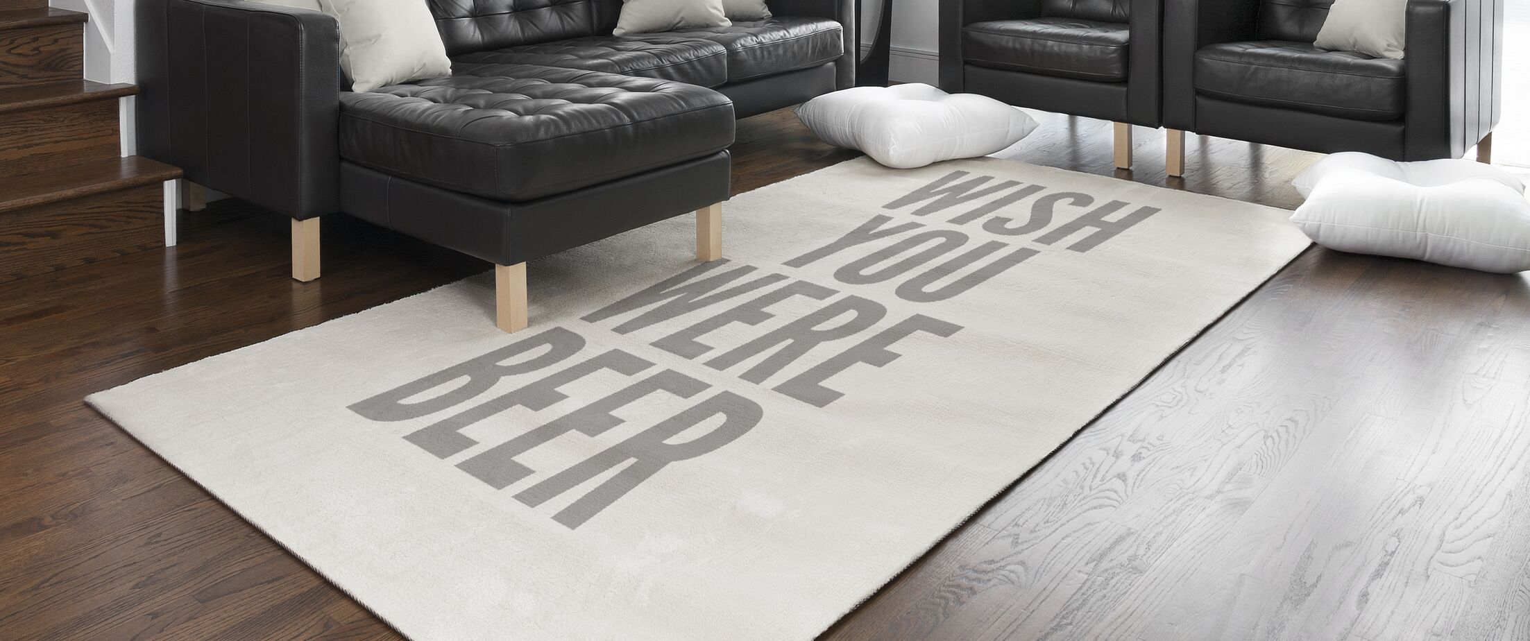 Jalynn Wish You Were Beer Gray/Beige Area Rug Rug Size: Rectangle 2' x 3'