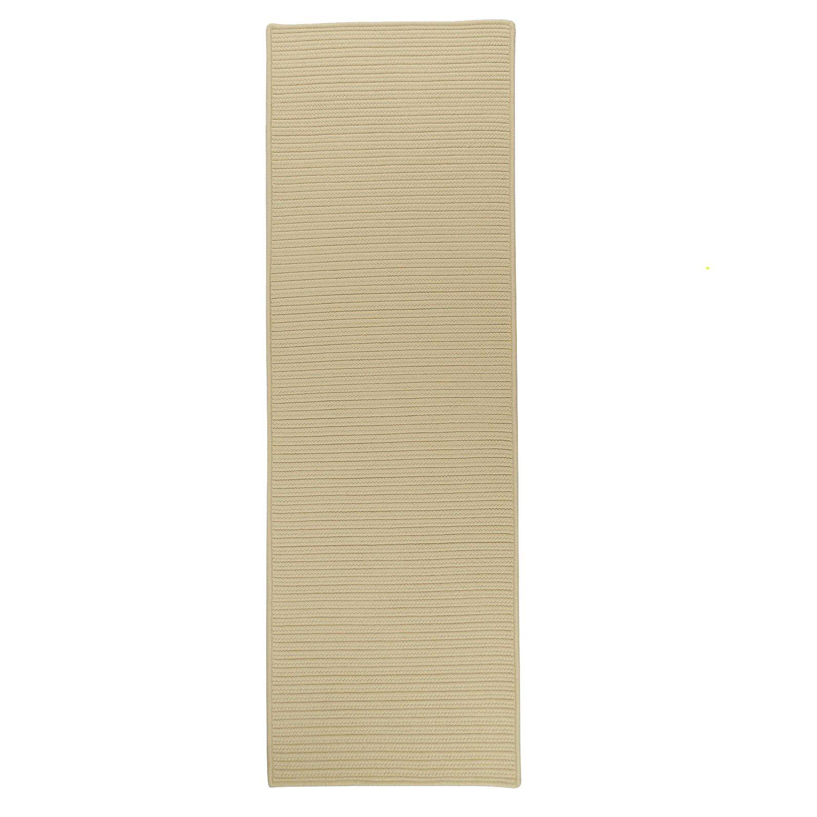 Kamryn Reversible Hand-Braided Beige Indoor/Outdoor Area Rug Rug Size: Runner 2'4