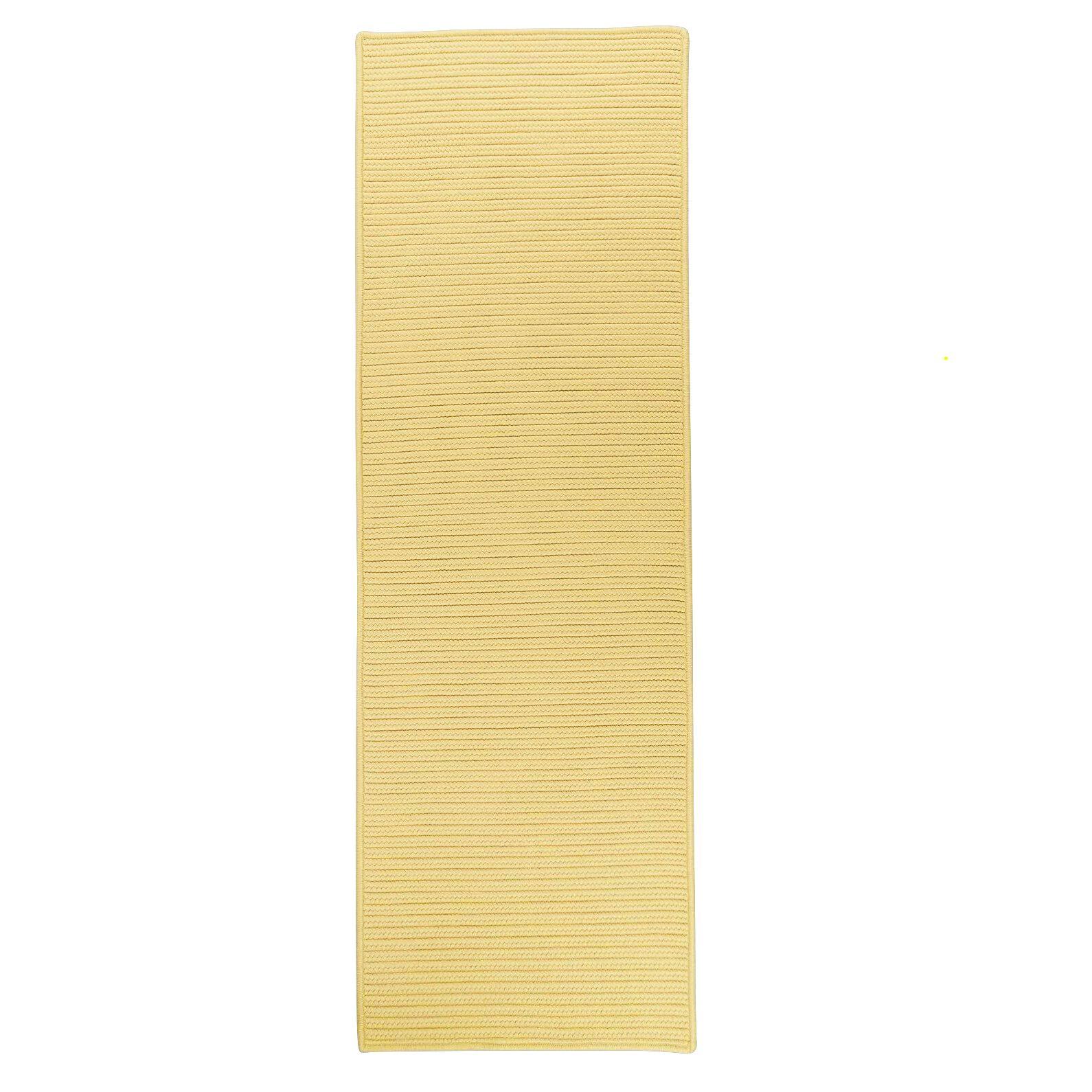 Alexus Reversible Hand-Braided Yellow Indoor/Outdoor Area Rug Rug Size: Runner 2'4