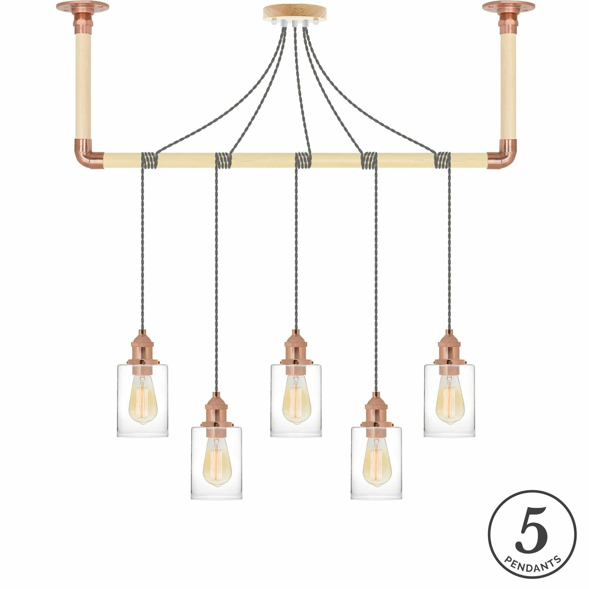 Aurelio 5-Light Kitchen Island Pendant