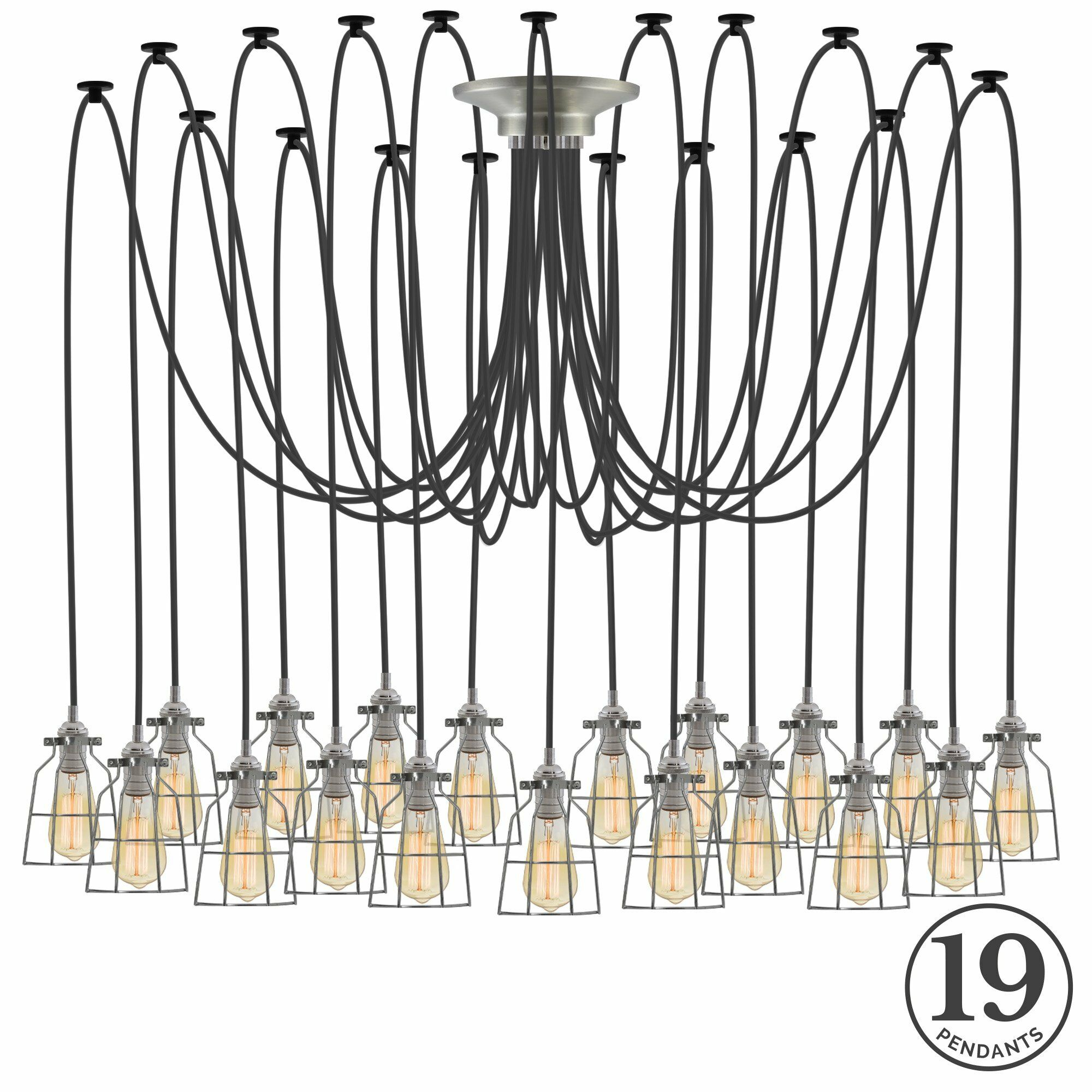 Ian 19-Light Cluster Pendant